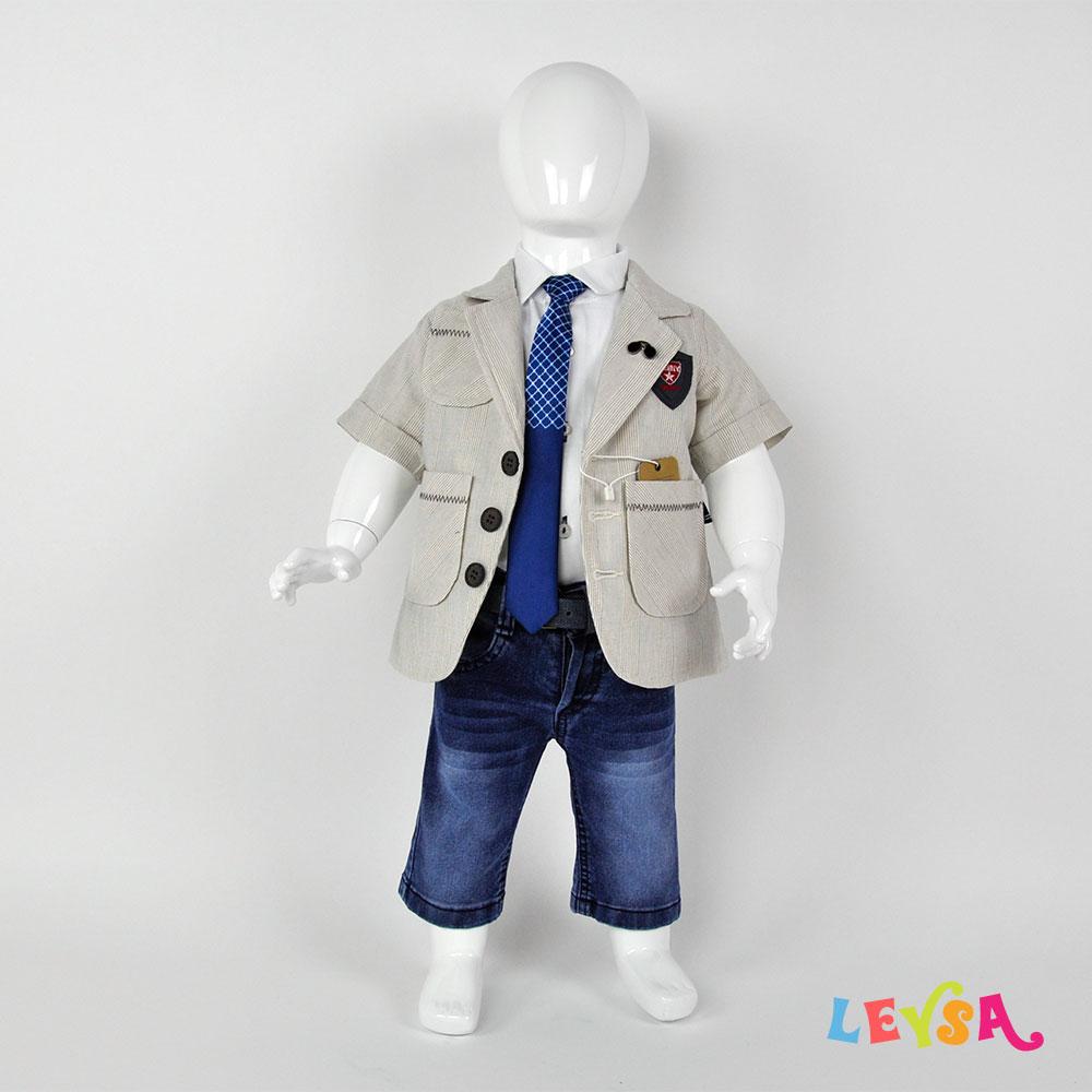 Рубашка с галстуком и пиджак с бриджами